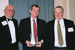 Prof.Ronald Mann, with ACCFSL Pres. Ralph Rohner and Writing Competition Chair Fred Miller